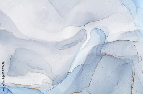 Fototapeta Szaro-niebieska abstrakcja cieniowana na zamówienie powiększająca wnętrze