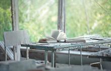 Classroom In Abandoned School Number 3 In Pripyat, Chernobyl Alienation Zone