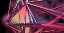 Scene Of A Blur Metallic Fractal In Pink Color.