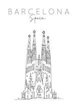 Poster Barcelona Sagrada Familia