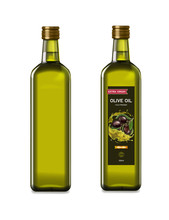 Olive Oil Glass Bottles With O...