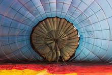 Inflating Colorful Hot Air Balloon