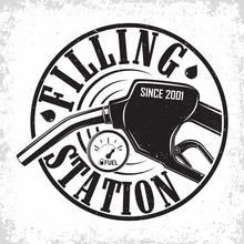 Vintage Filling Station Emblem Design