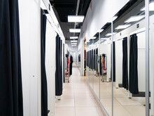 Fitting Rooms In The Store. Changing Room.