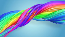 3d Rendering Of Abstract Rainb...