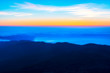 Sunrise from top of the El Teide volcano national park in Tenerife