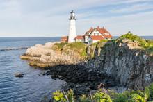 Portland Head Lighthouse On Cape Elizabeth Maine