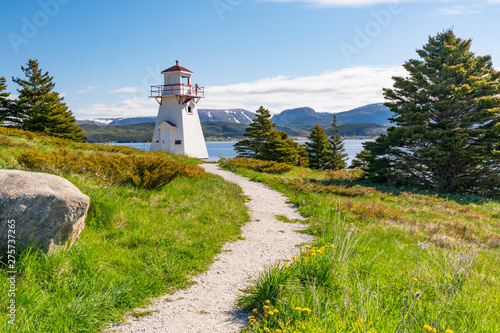 Slika na platnu Woody Point Lighthouse in Newfoundland
