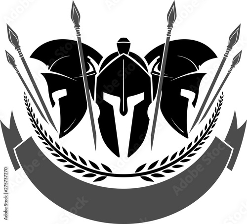 Spartan Helmet Group Canvas Print