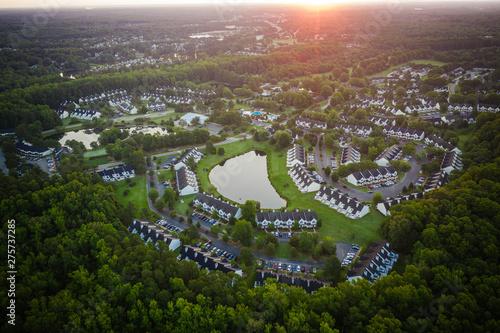 Fototapeta Aerial of Williamsburg Virginia