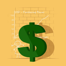 Dollar Symbol In Front Of A Gr...