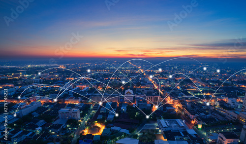 smart city and communication network - 275745221