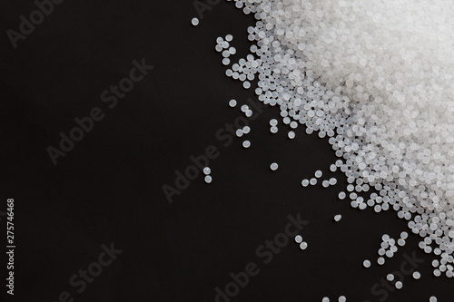 Fotomural  Close-up of plastic polymer granules, polymer plastic, polymer pallet, Plastic ball