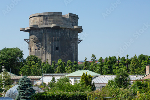 Photo Flakturm or Anti aircraft tower located in the Augarten in Vienna