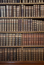 Old Library Bookshelves With A...