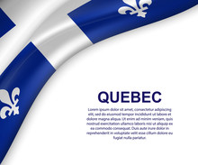 Waving Flag Of Quebec