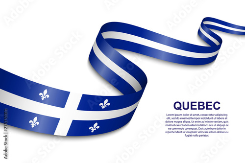 Fototapeta waving flag of Quebec obraz na płótnie