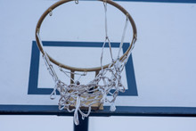 Close Up Of Basketball Hoop Wi...