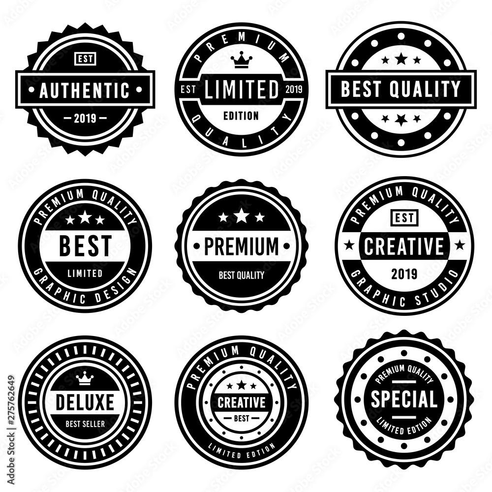 Fototapety, obrazy: A Vintage badge design set.