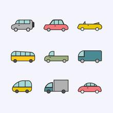 Cars Set Illustration