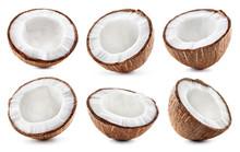 Coconut Slice. Coco Piecs Isol...