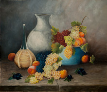 Still Life With Peaches, Grape...