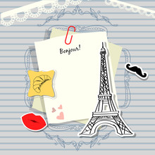 Paris Vector Scrapbook Backgro...