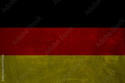 Fototapety, obrazy: The Deutsch flag background. Vintage square flag of Germany