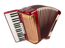 Retro Accordion Isolated