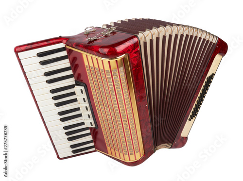 Fotografía Retro accordion isolated