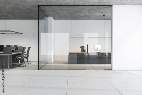 Canvas Prints Countryside White manager and open space office