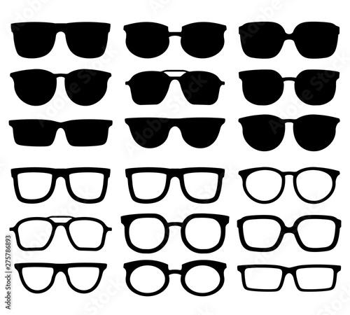 Canvastavla Glasses silhouette