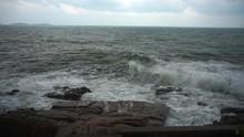 Large Storm Waves Crashing On ...