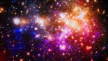 Bright Star Nebula. Distant Ga...