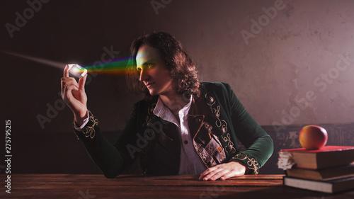 Valokuvatapetti History of science, concept. Isaac Newton and physics.