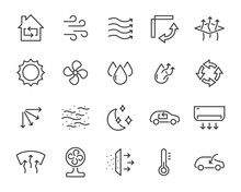 Set Of Air Icons, Such As Air ...