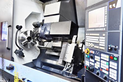 Horizontal turning CNC lathe center Canvas-taulu