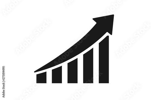 Obraz growth money icon with profitability icon - fototapety do salonu