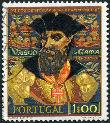 Fotomural PORTUGAL - 1969:  shows Vasco da Gama (1469-1525), navigator who found sea route