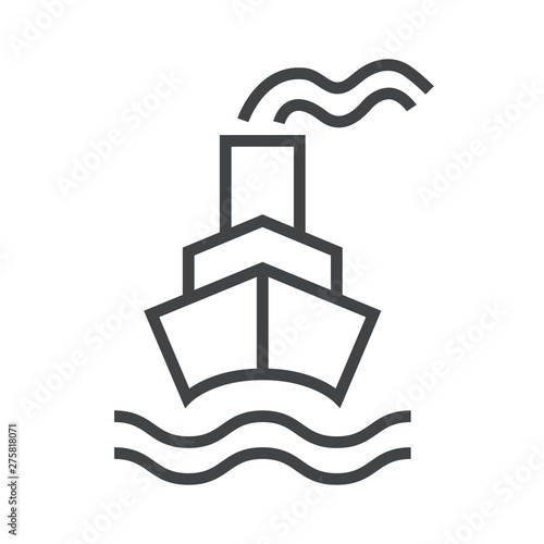 Wallpaper Mural Line icon with steamship