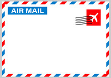 Air Mail Envelope With Postal ...