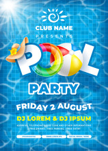 Cool Pool Party Poster Template