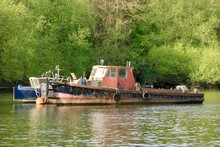 Old Barge On The River Thames
