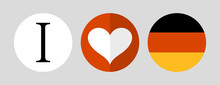 Heart Icon And Germany Flag