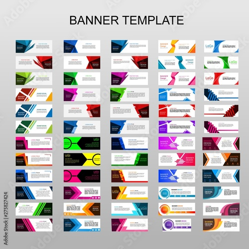 Fototapeta Mega collection of 60 abtract banners.modern template design for web.vector design obraz na płótnie
