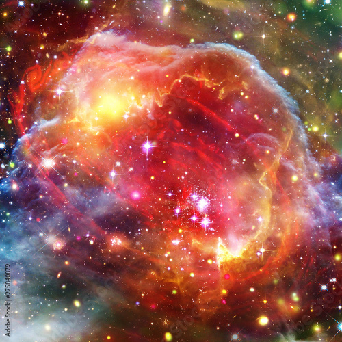 Galaxy and light. The elements of this image furnished by NASA. - 275840879