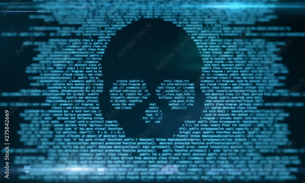Fototapeta Virus attack and malware concept
