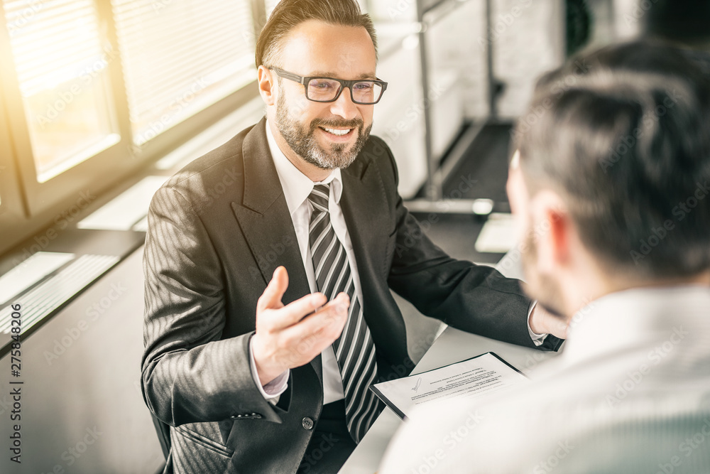 Fototapety, obrazy: Business people negotiating a contract.