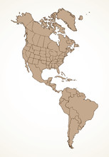 North American Continent With ...
