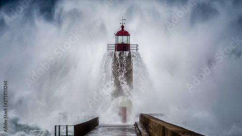 Lighthouse crying Canvas Print